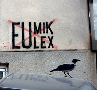 no_eulex written on a wall in kosovo