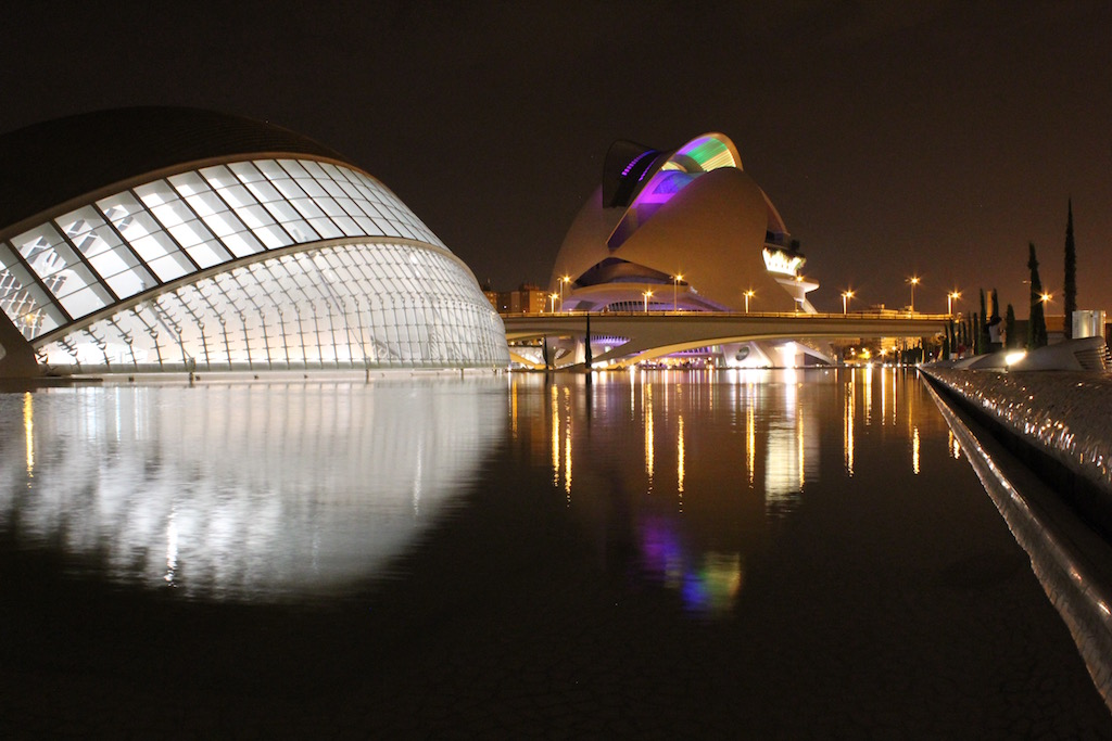 City of Arts and Sciences Valencia by night