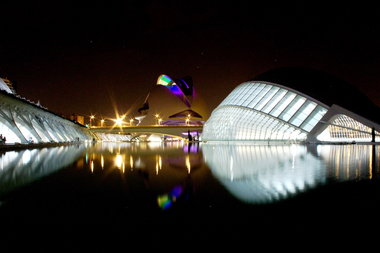 Valencia City of Arts and Sciences by night