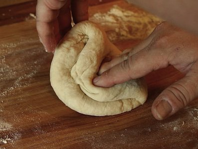 Hands in the dough